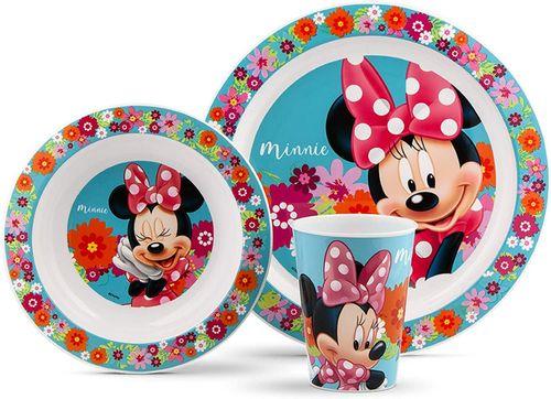Conjunto Alimentação Pratinhos e Copo Minnie Disney- Lillo