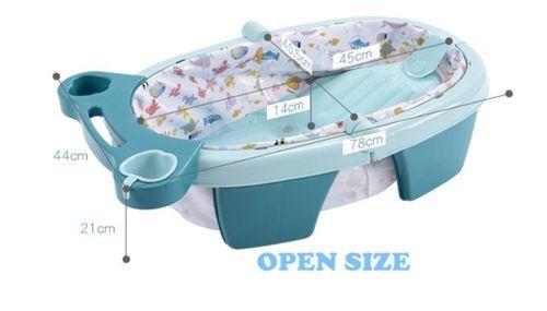 Banheira Inflável e Dobrável Para Bebê Azul - Color Baby