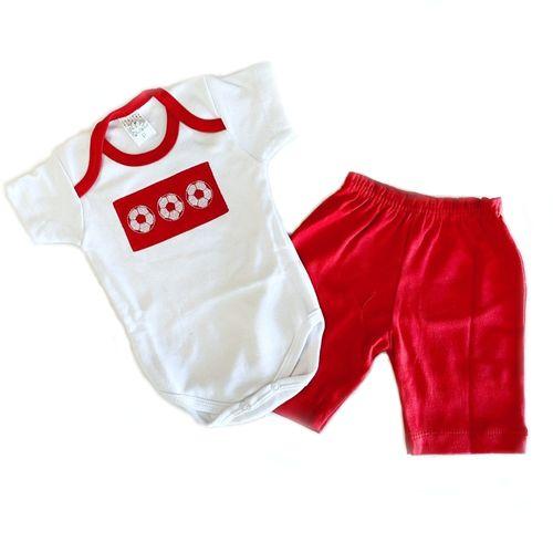 Conjunto de Bebê  100% Algodão Body e Bermuda - 2 Peças