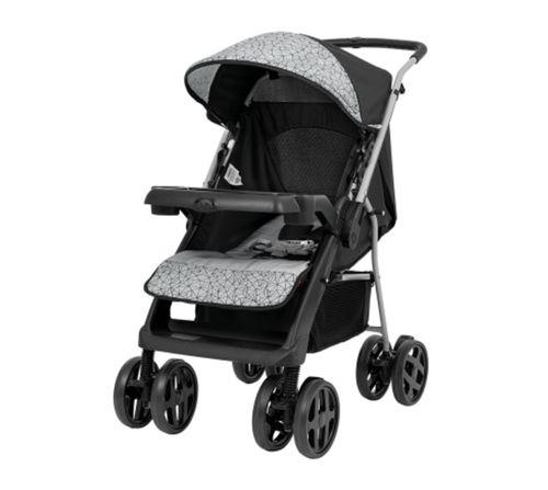 Carrinho De Bebê berço passeio Joy Até 15kg Preto Tutti Baby