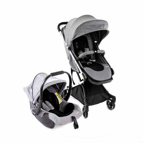 Carrinho Com Bebê Conforto Travel System Legend Grey Infanti