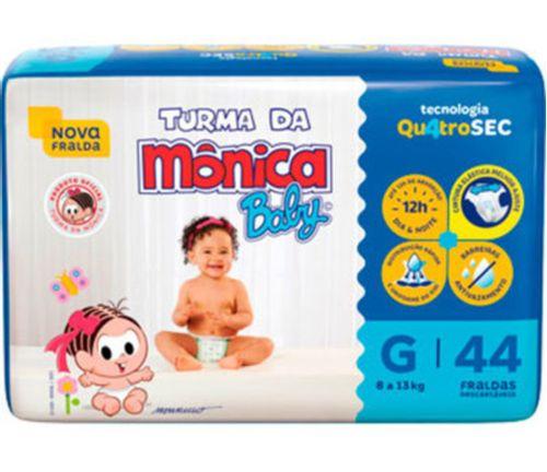 Fralda Descartável Mega Tam G 44 Un - Turma Da Mônica