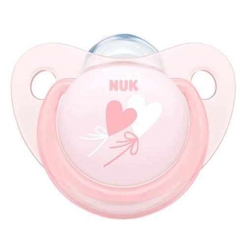Chupeta bico de silicone Decorada 6+ meses NUK - Rosa