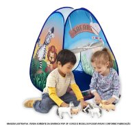 cabana tenda infantil estampa de safari.